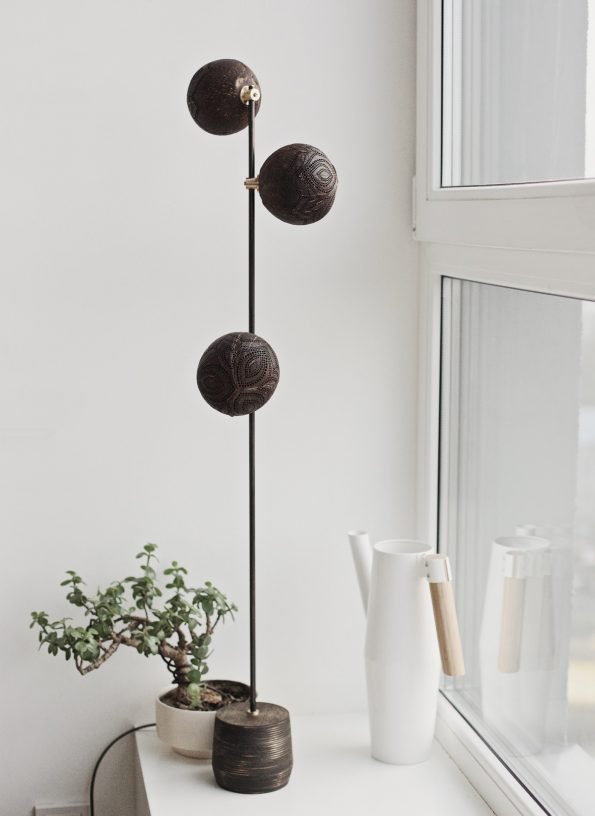 Floor Trio standing coconut lamp