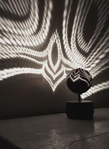 Table Soloist bedroom coconut lamp