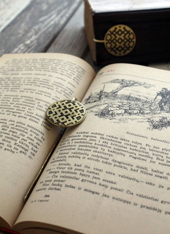 Handmade brass bookmark