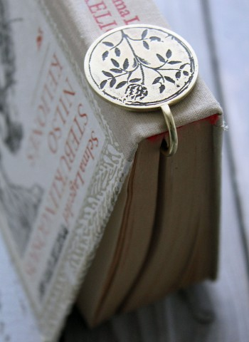Handmade brass bookmark